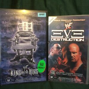 WWF VHS COLLECTION (King of the Ring 2001 / Eve of Destruction 2000 / WWE)