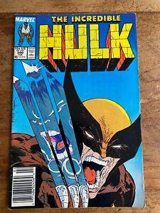 Incredible Hulk #340 👊🏽 Wolverine Todd McFarlane Marvel NEWSSTAND 1988 🔥 r