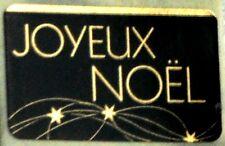 15 Etiquettes autocollantes stickers cadeaux  JOYEUX NOEL Noir et Or - Ref ROM8