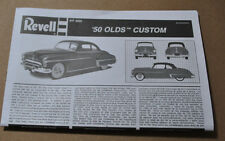 REVELL 1/25 1950 OLDS CUSTOM COMPLETE INSTRUCTION GUIDE - FLAWLESS!