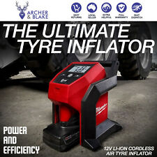 Milwaukee 12V Li-ion Cordless Air Tyre Inflator Skin Only Car Truck Compressor