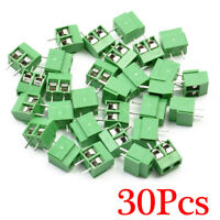 New Arrival 30 Pcs 2 Pole 5mm Pitch PCB Mount Screw Terminal Block 8A 250V
