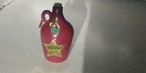 Vtg 1950's Rosard Burgundy Wine Miniature UHL Pottery Jug Bottle Empty
