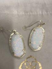 New Kendra Scott Dani Gold  Drop Earrings In White Kyocera Opal $130