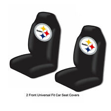 Northwest NFL Pittsburgh Steelers Car Truck 2 Front Bucket Seat Covers Set