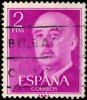 "SPAIN 830 (Mi1082) - General Francisco Franco ""1956 Red Lilac"" (pa83382)"