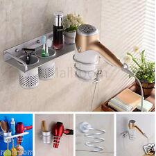 Multifunktions Bad Haartrockner Halter Wand Handtuchhalter Raum Aluminium Regal