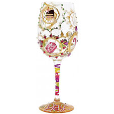 Lolita Queen for a Day Hand-Painted 444ml Wine Glass in Gift Box - 4054095