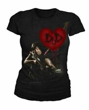 The Walking Dead - Daryl Dixon in Love Damen T-Shirt Schwarz (Gr.S-XL)