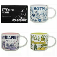 Star Wars Starbucks Disney Mug Been There Series Set of 3 Hoth Bespin Dagobah