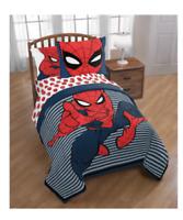 New Marvel Spider Man Twin / Full Size Comforter Set 2 Piece Boy's Kid's Bedding