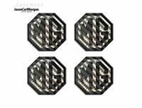 MG TF Car Alloy Wheel Centre Caps Badges 45mm Logo Badge Carbon Fibre 4 Pack