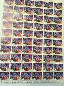 Canadian Christmas Seals Sheet  Stamps Vintage 1975