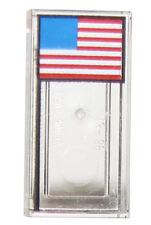 LEGO NEW 1 X 2 TRANSPARENT CLEAR AMERICAN FLAG PATTERN NASA PIECE