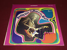BUDDY GUY SIGNED A MAN AND THE BLUES LP ALBUM VINYL PROOF