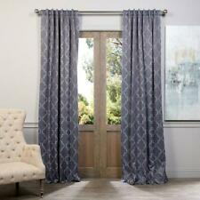 "Semi-Opaque Seville Grey / Silver Blackout Window Curtain - 50"" x 84"" (Panel)"