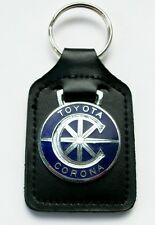 Toyota Corona Llavero Esmalte distintivo Cuero Llavero, Llavero, Llavero
