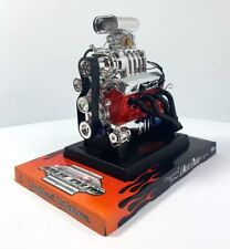 Chevy Small Block 350 SBC Scoop V8 Model Engine Diecast 1:6 Scale Motor Replica