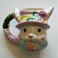 Vintage Easter Bunny Ceramic Mug Hand Painted From Avon Gift Collection 14 Oz.