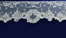 """White Christmas French Horn 94"""" x 21"""" Lace Mantel Scarf Free Shipping"""