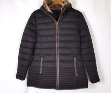 Firetrap Ladies Fur Luxury Bubble Jacket Hood ZIPPED Small Size UK 10 B342