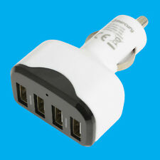 4 Port USB Universal 12-24V Fast Smart Phone Car Charger Cigaret Lighter Plug