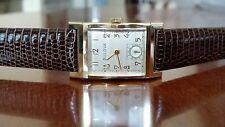 "Bulova ""His Excellency"" 14k Solid Gold Man's Wristwatch Ca.1947 21j Lizard Band"