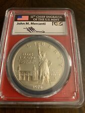 1986-S Statue of Liberty Proof Silver Dollar PCGS PR70DCAM Mint Engraver Series