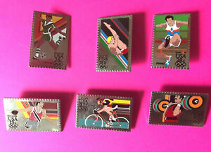 1984 OLYMPIC PIN SPORTS STAMP PINS GROUP #5 PICK A BADGE - PIN 1-2-3 ADD TO CART