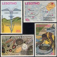Lesotho 1973 Diamonds/Volcano/Mining/Precious Stones/Gems/Miner 4v set (n23294)