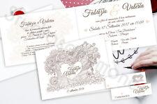 Partecipazioni Nozze Wedding Inviti Matrimonio Tree Love Albero Amore Cuore
