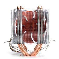 Fan CPU Quiet Cooler Heatsink Four Heat Pipe For Intel LGA775 Core i7 AMD FM2 AM