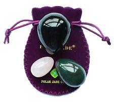 Yoni egg Set of 3 Gemstone, nephrite jade, obsidian rose quartz kegel tantra tao