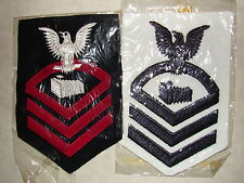 Original WW2 US NAVY PHOTOGRAPHERS MATE Chiefs Sleeve Rates -Two Different
