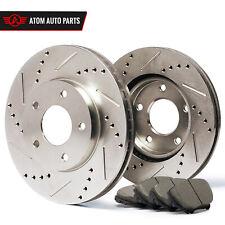 2008 2009 Fit Dodge Caliber (See Desc.) (Slotted Drilled) Rotors Ceramic Pads F