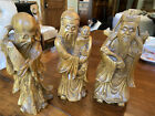 1920s chinese carved laquered Boxwood figures-  Hand Carved Amazing Quality
