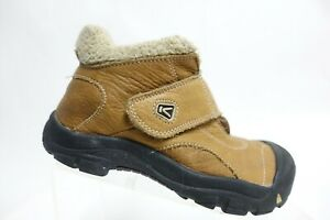 KEEN Leather Brown Sz 3 Kids Insulated Hiking Boots
