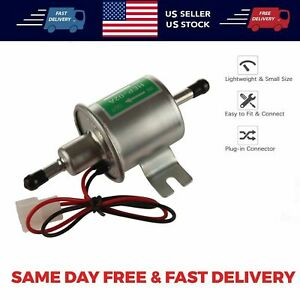 Universal Inline Fuel Pump 12V Electric Low Pressure Gas Diesel HEP-02A