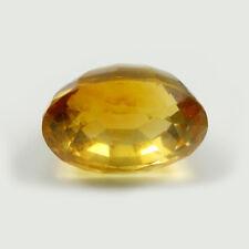 12x9mm Oval Deep Orange Color Natural Citrine Loose VVS Gemstone, 7.24 carats