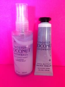 ☃️BATH & BODY WORKS FROSTED COCONUT SNOWBALL TRAVEL HAND CREAM SPRAY SHIPS FREE!