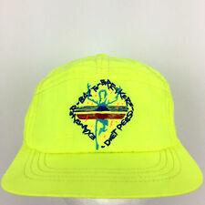 Vtg 80s Diet Pepsi Cap Neon Running Bay Marathon Logo Soda Pop Cola Baseball Hat