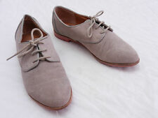 DV DOLCE VITA Womens 6 Biege Suede Geek Chic Oxfords Casual Shoes Flats