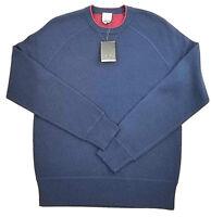 new JACK SPADE men sweater P2RU2449 crewneck 93% wool blue S MSRP $178