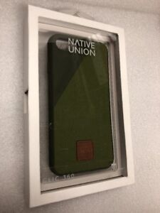 GENUINE Native Union CLIC 360 Cover Canvas Case for iPhone 7 - Olive - 178CL