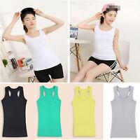 Basic Women's Sleeveless Tank Tops Cami Camisole Cotton T-Shirt Summer Vest Fash