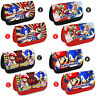 MARIO AND SONIC Personalised Pencil Case Any Name Kids School Gift Make up Bag