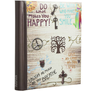 Large Self Adhesive Photo Albums 20 Sheets/40 side inspirational slogans AL-9565