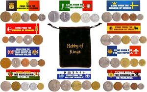 50 OLD COINS FROM 10 DIFFERENT COUNTRIES IN EUROPE. COLLECTIBLE COINS FOR GIFTS