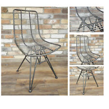 Metal Industrial Wired Office Dining Chair Restro Armless Feature Single Seat