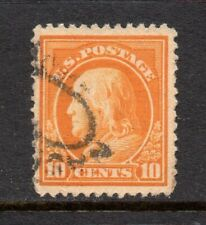 Scott # 416, used, VF-XF, 10¢ Franklin, Perf 12, SL wm, 1912, Oval Cancel